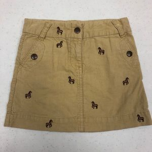 Crewcuts Sz 4 corduroy skirt for the horse lover